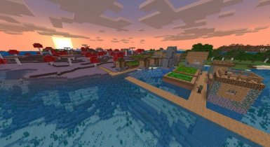 Zombie Village attached to Mushroom Biome at spawn! Minecraft Seeds