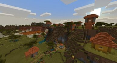 3 Villages and Variety of Biomes! (Minecraft Seed)