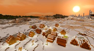 343145341: Savannah Village in a Snow Biome Seed