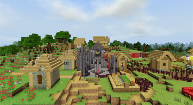 Modified Zombie Village | Minecraft PE Maps