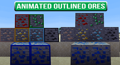 Animated Outlined Ores | Minecraft Texture Pack