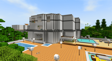 Modern Mansion for Gamers | MCPE Maps