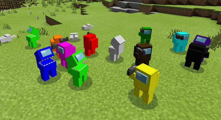 Among Us Addon   Skins 4D Minecraft AddOns