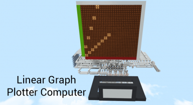 Linear Graph Plotting Redstone Computer