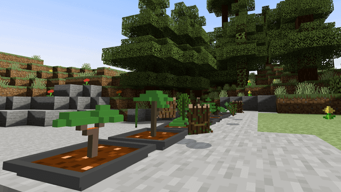 Easy Bonsai Addon For Minecraft Pe Minecraft Addons