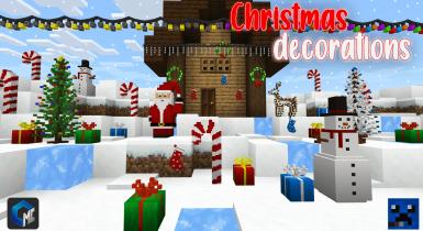 Christmas Decorations (Addon/Blocks)   MCPE Addons