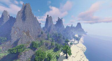 Survival Tropical Islands [1400 x 1400] | Minecraft PE Maps