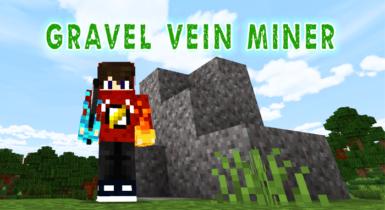 Gravel Vein Miner Add-on for Minecraft (1.16)