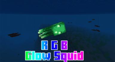RGB Glowsquid Addon for Minecraft