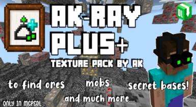 AK X-Ray PLUS Texture for MCPE 1.17