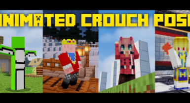 Animated Crouch   Minecraft PE Texture Pack