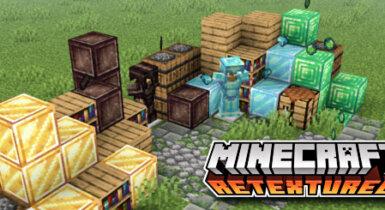 Minecraft Retextured v2! Hotbar Fix for MCPE