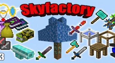 Skyfactory V3 Map for MCPE